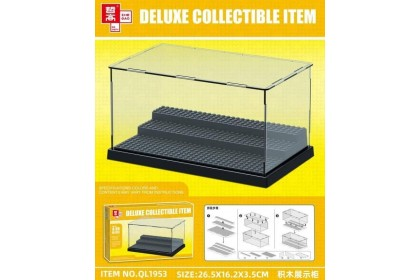 Display mini figures case (3 layers black colour)