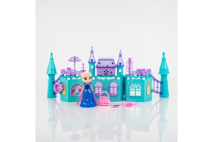 2081 Frozen Fantasy Castle Dollhouse Playset with music and light