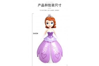 Dancing Princess LED Light with Frozen Music Toys (Battery provided)